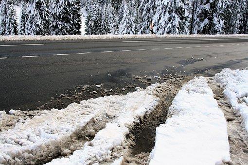 Snow, Winter Dream, Highway, In The Winter, Asphalt