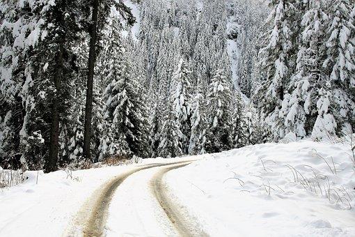 Winter Landscape, Snow, Fairy-tale Winter, Highway
