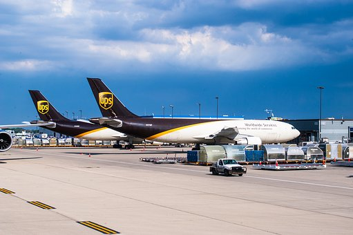 Ups, Engine, Boeing, 747, 8f Airport, Aircraft, Fly