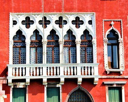 Venice, Architecture, Facade, Balcony, Building, Window
