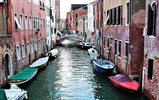 Venice, Italy, Channel, Water, Architecture, Buildings
