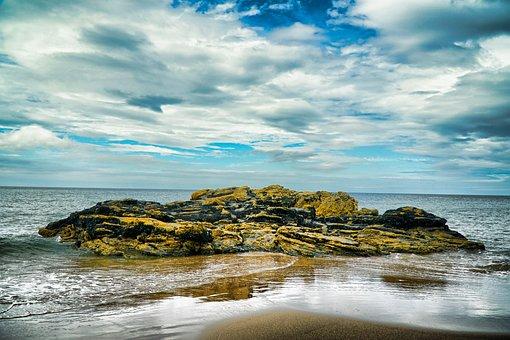 Beach, Rock, Water, Sea, Ocean, Sand, Coast, Relaxation