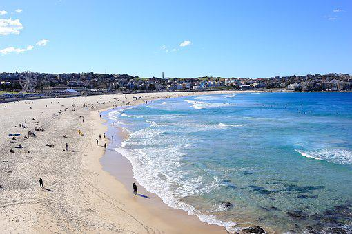 Bondi Beach, Beach, Australia, Sydney, Vacation