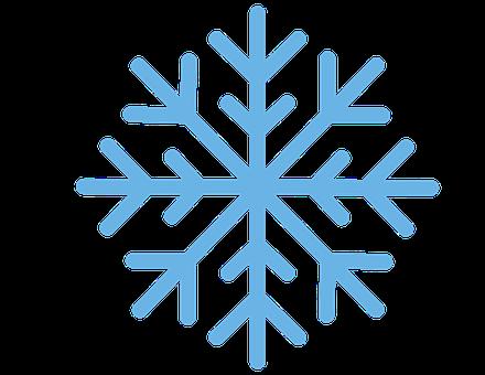 Snowflake, Snow, Winter, Blue, Flake, Christmas, Cold