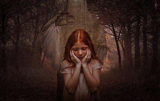 Ghost, Girl, Gothic, Dark, Goth, Children, Forest