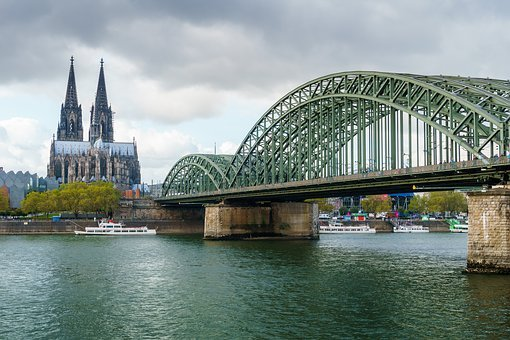 Cologne, Cologne Cathedral, Rhine, Hohenzollern Bridge