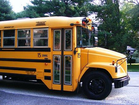 School, School Bus, First Day Of School