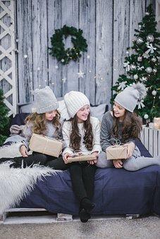New Year's Eve, Kids, Funny Kids, Christmas Tree