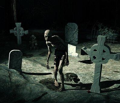Cemetery, Zombie, Horror, Weird, Gloomy, Halloween