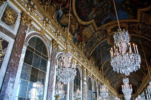 Gold, Versailles, Paris, Marie Antoinette, Architecture
