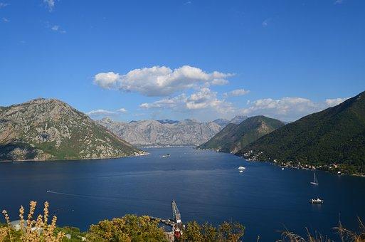 Montenegro, Kotor, Boka Kotorska, Sea, Mountain