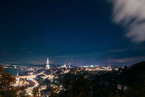 Bern, Night Photograph, Long Exposure, Switzerland
