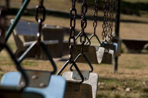 Swings, Park, Autumn, Fall, Chains, Haunted, October