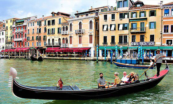 Venice, Channel, Gondola, Italy, Architecture, Old