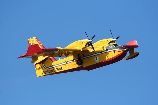 Plane, Seaplane, Civil Protection, Fire