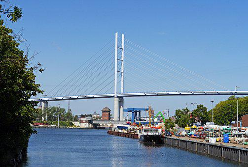 Rügen Bridge, High Bridge, Brick Bridge, Drawbridge