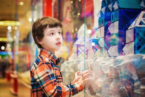 Child, Shop, Shopping Center, Holiday, New Year's Eve