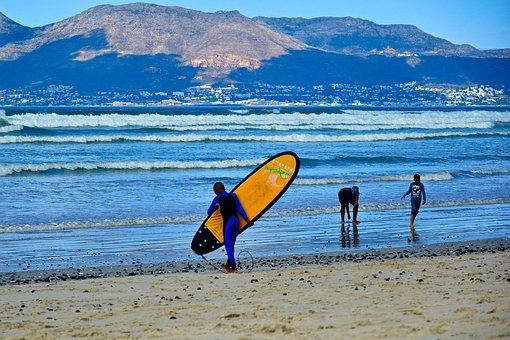 Surfing, Muizenberg, Surfers Corner, Waves, Beach