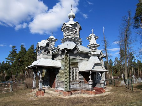 Temple, Wood, Orthodoxy, Architecture