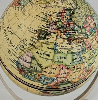 Terrestrial Globe, World, Earth, Planisphere