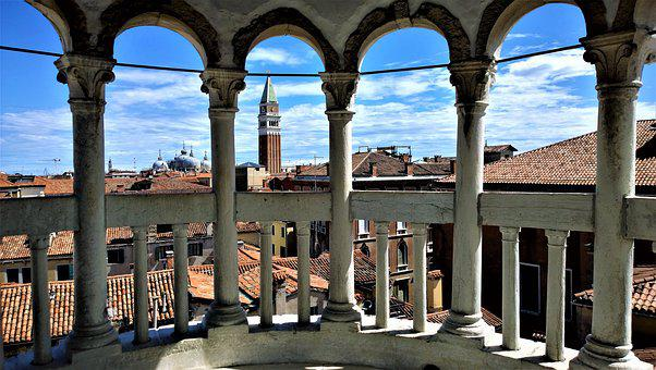 Venice, Views, Italy, Architecture, Balcony, Buildings