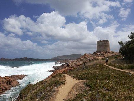 Isola Rossa, Sea, Sardinia, Torre, Summer, Costa, Water