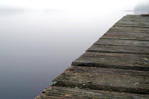 Bridge, Wooden, Lake, Footbridge, Water, The Silence