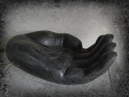 Hand, Zen, Ro, Meditation, Black