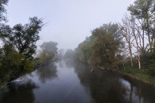 Nature, Fog, Autumn, River, Landscape, Forest