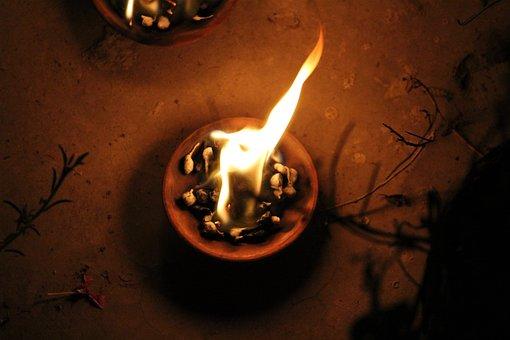 Diya, Light, Flame, Ignite, Fire, Burning Diya