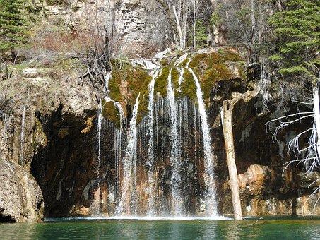Hanging Lake, Waterfall, Nature, Canyon, Colorado