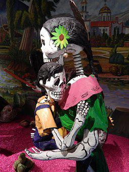 Mexico, Crafts, Day Of The Dead, Tradition, Bones