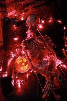 Haunted House, Halloween, Skeleton, Spooky, Dark
