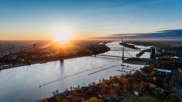 Riga, Latvia, Drone, Multicopter, Helicopter