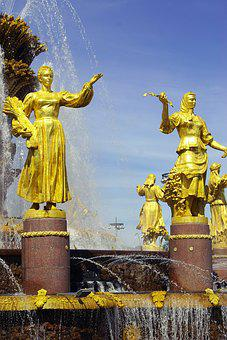 Fountain, Enea, Moscow, History, Russia, The Ussr