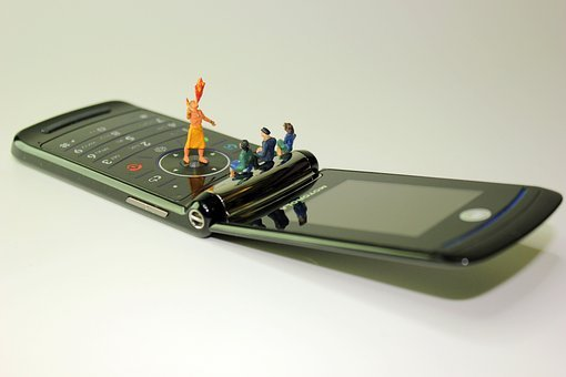 Miniature Figures, Cellphone, Fire Eaters, Viewers