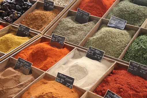 Spice, Food, Color, Red, Seasoning, Assortment
