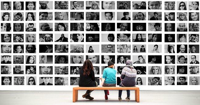 Human, Observer, Exhibition, Photo Montage, Faces