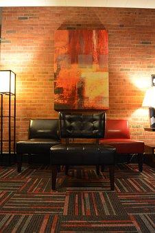 Chair, Lamp, Art, Interior, Furniture, Wall