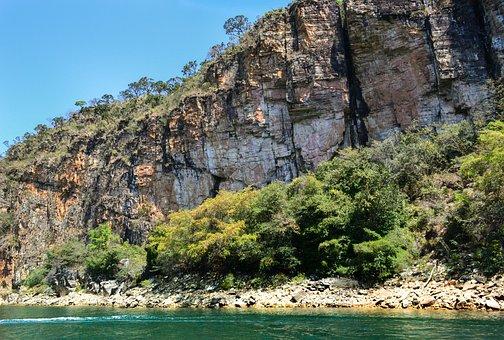 Mines, Lake, Furnas, Brazil, Minas, Water, Landscape