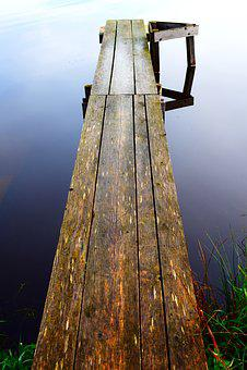 Web, Water, Lake, Nature, Boardwalk, Mood, Away