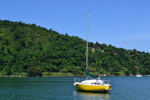 Beach, Ubatuba, Brazil, Ride, Boat, Islands, Nature