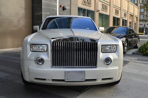 Rolls-royce, Luxury Car, New Car, Cream, White, Vehicle