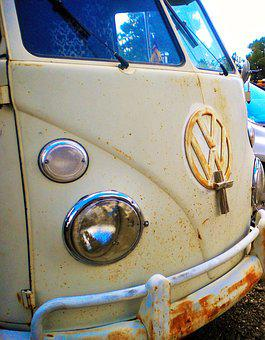 Vw Van, Cross, Nostalgia, Car, Automobile
