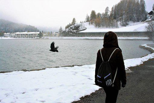 Winter, Spacer, Freeze, Same, Lake, Rest, Snow, Scenery