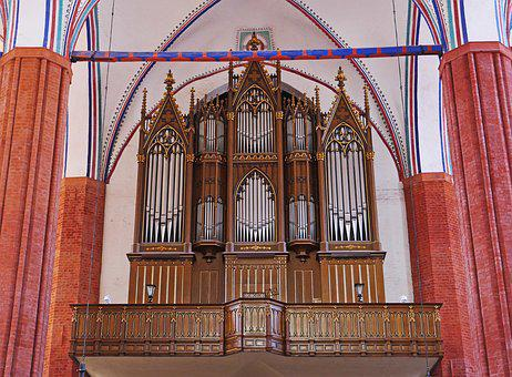 Organ Empore, Greifswald, St Mary's Church