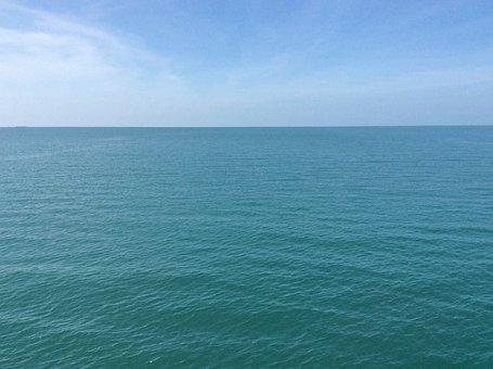 Depth, Deep, Sea, Thailand, Horizon, Sky, Clouds