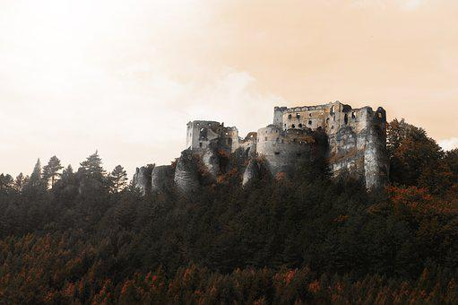 Lietava, Castle, Slovakia, Views