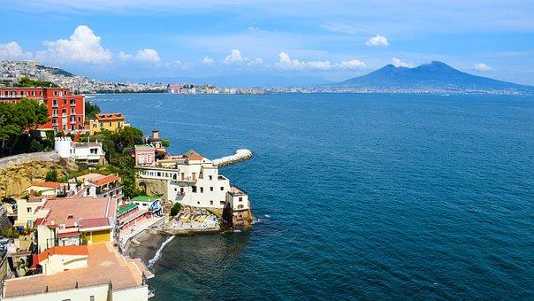Italy, Naples, Beach, Water, Sea, Building, Holiday
