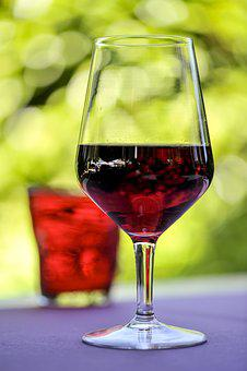 Glass, Red Wine, Alcohol